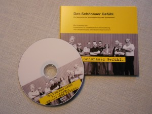 映画「シェーナウの想い」DVD。日本語版(左下)とドイツ語版(右上)