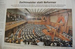 特定秘密保護法案成立を伝える南ドイツ新聞