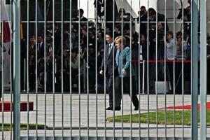 Abe_Merkel Empfang in dem Kanzleramt
